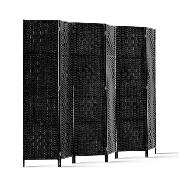 Black Pinewood 6 Pannel Room Divider