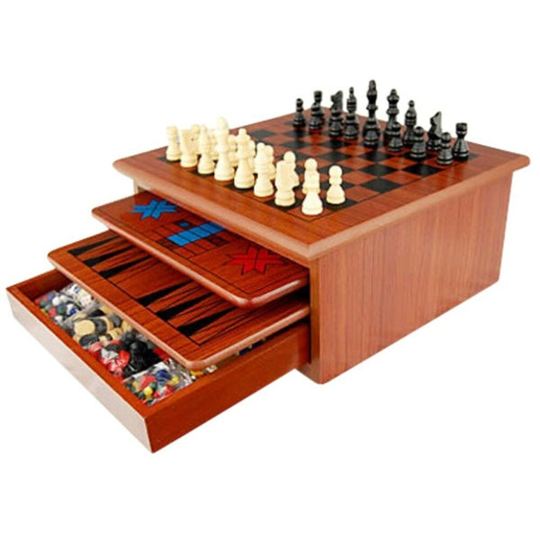 10 in 1 Wooden Chess Board Games Set