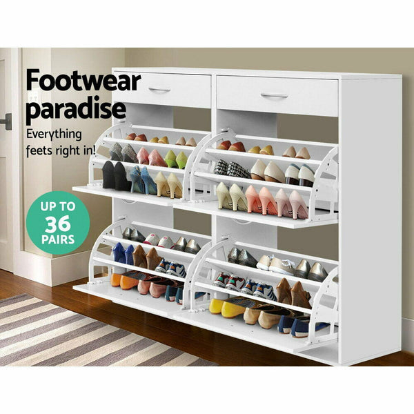 Hano White 36 Pairs Shoe Storage