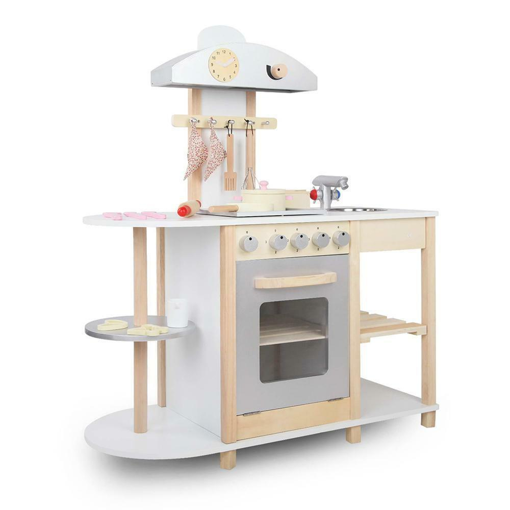 Wooden Kitchen Playset White Oak