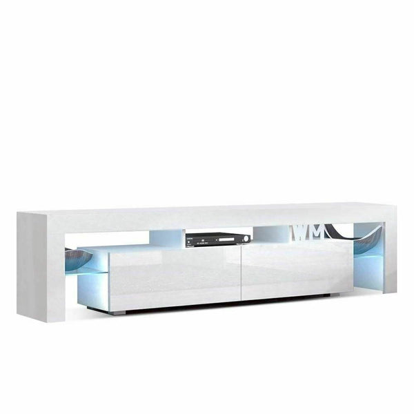 Hugo White 189cm High Gloss LED TV Entertainment Unit