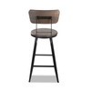 Hano Industrial Black Swivel Bar Stool