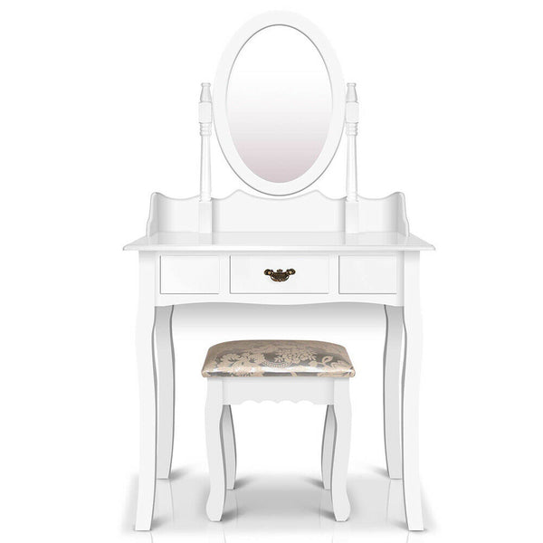 Lovo White Single Drawer Dressing Table