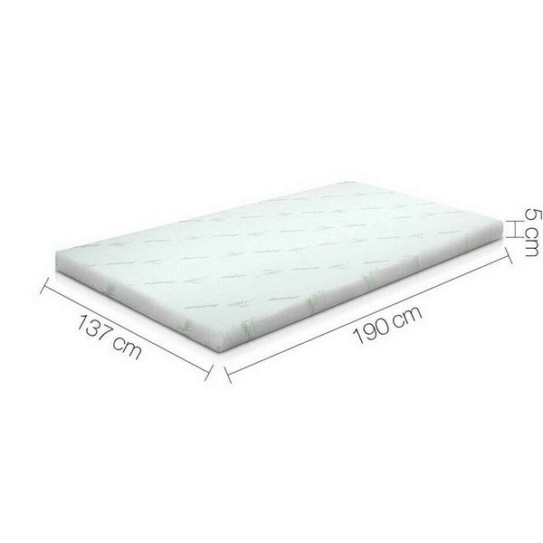 Thick Cool Gel Memory Foam Mattress Topper Double Size