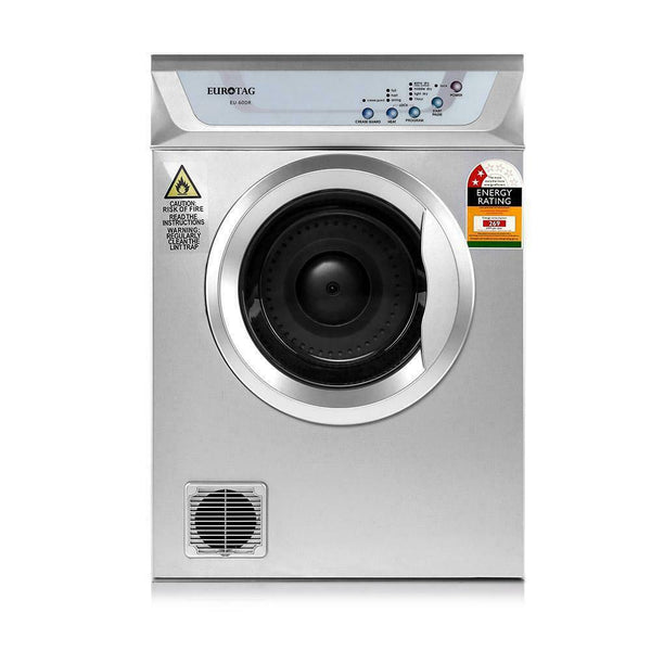 6kg Clothes Tumble Dryer (Silber)