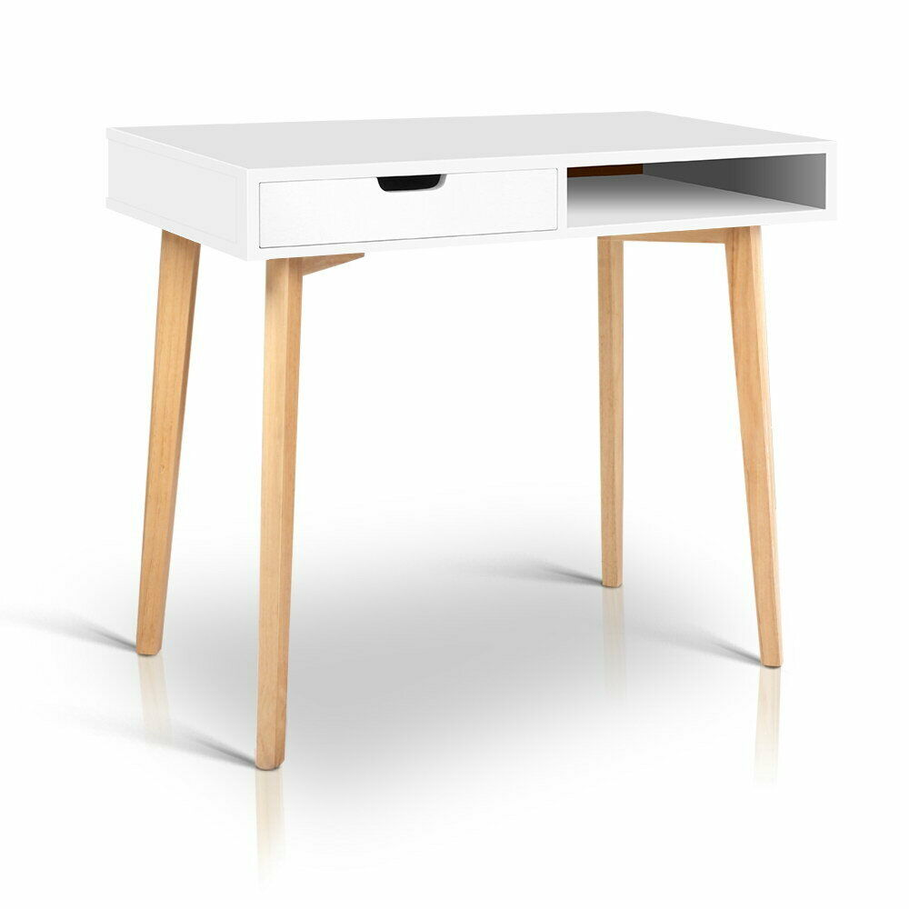 Melo White Modern Study Computer Desk Table