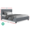 Neo Single Size Grey Bed Frame