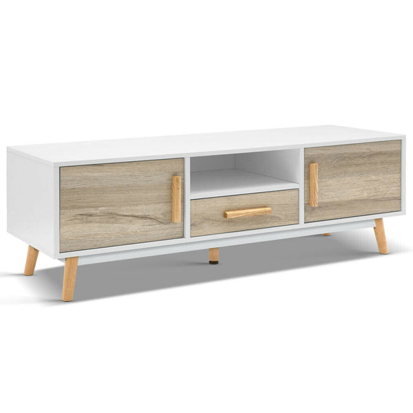 Modeste Natural Brown White TV Entertainment Unit