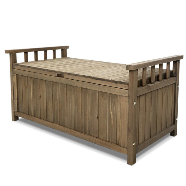 Gordon Outdoor Wooden Storage Bench