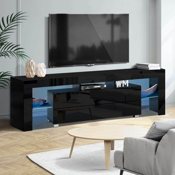 Hugo Black High Gloss LED TV Entertainment Unit
