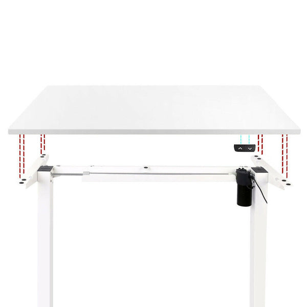Electric Motorised Adjustable Desk Frame Table Top White