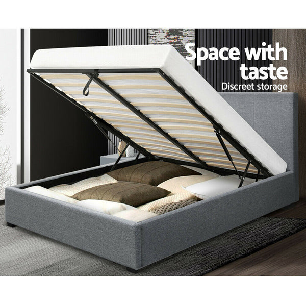 Hugo Grey King Size Gas Lift Bed Frame