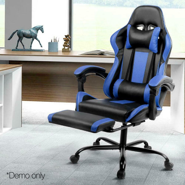 Kondo Black & Blue Gaming Office Racer Chair