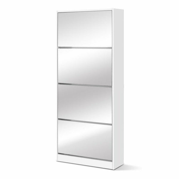 Viena 60 Pair Mirrored Shoe Storage