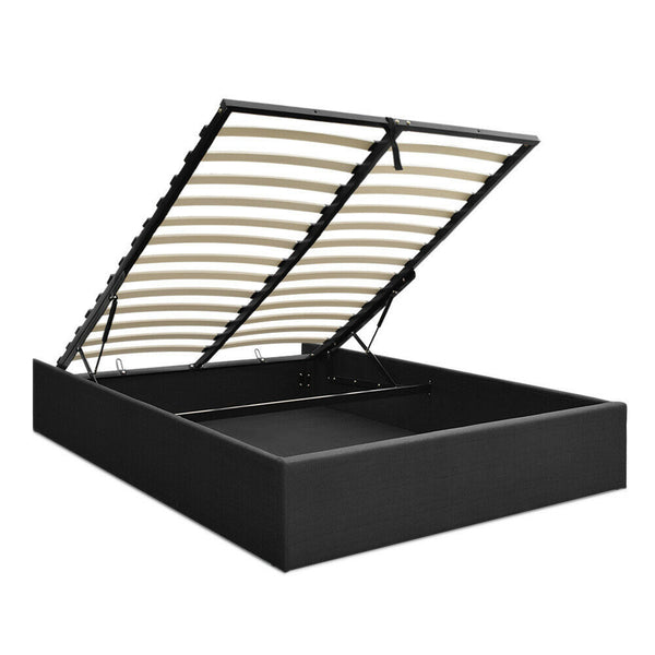 Venus King Single Charcoal Gas Lift Bed Frame