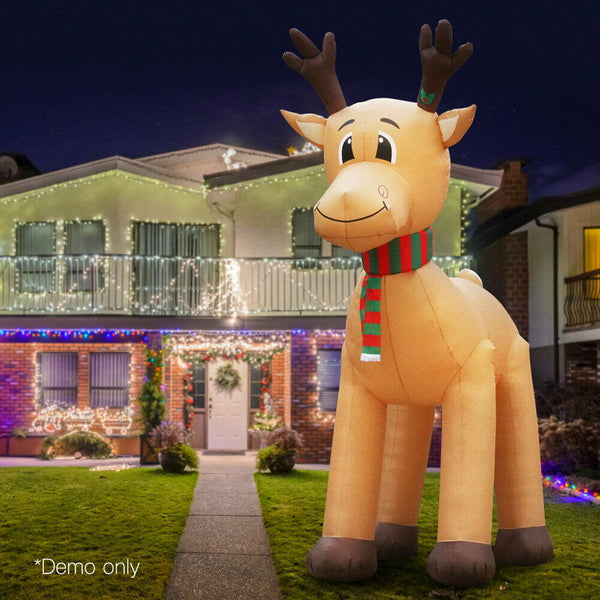 Jingle Jollys 5M Inflatable Xmas LED Reindeer