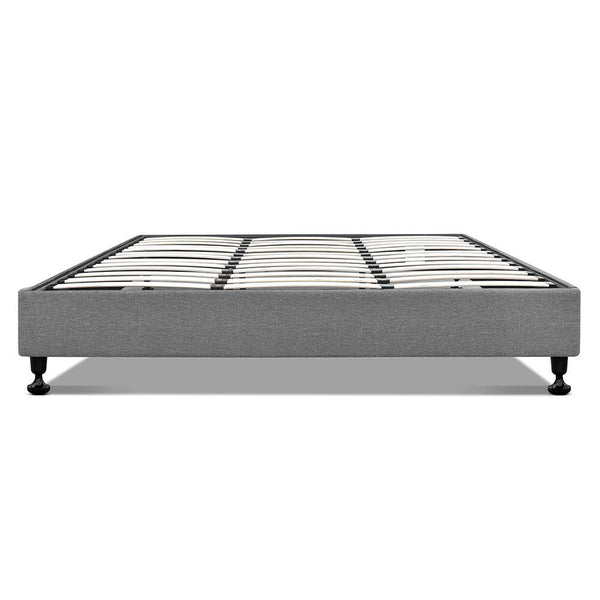 Versa Grey King Size Wood Base Bed Frame