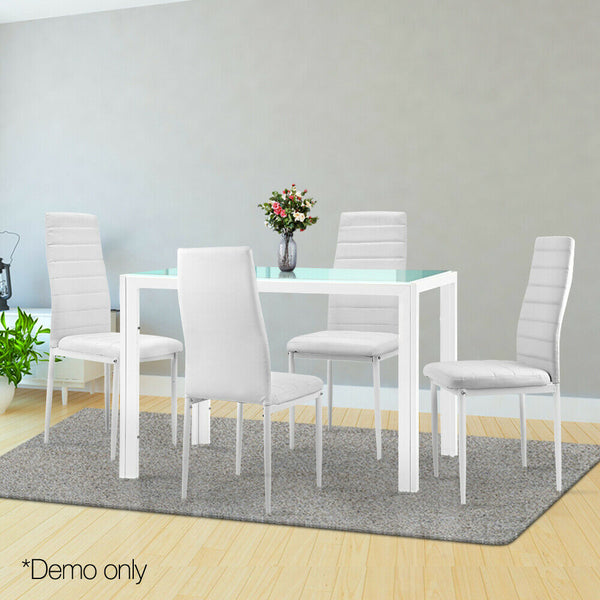 Modern Dining Table Set Hugo White