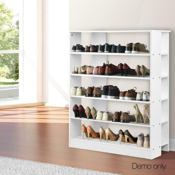 Heno White 6 Tier Shoe Rack Cabinet