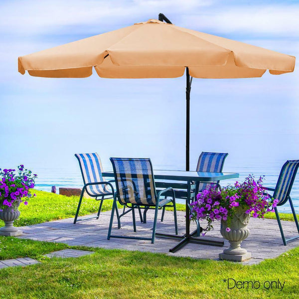 Outdoor Umbrella Sun Shade Beige