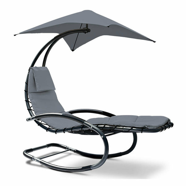 Gordon Outdoor Grey Sunshade Hanging Chair