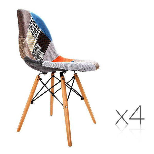 4x Multi Colour Veno Retro Dining Chair