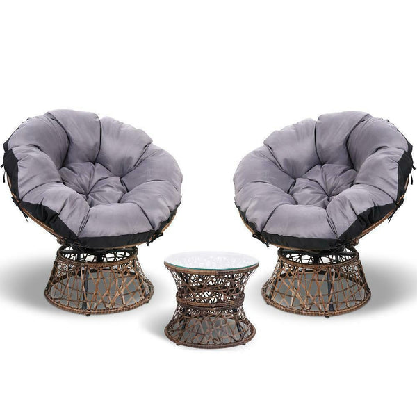 Gordon Papasan Chair Table Set