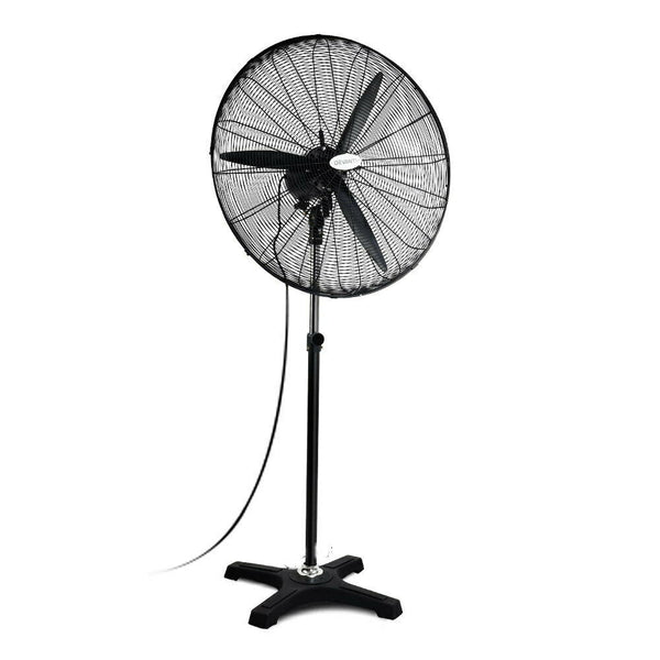 Industrial Black Oscillating Standing Fan