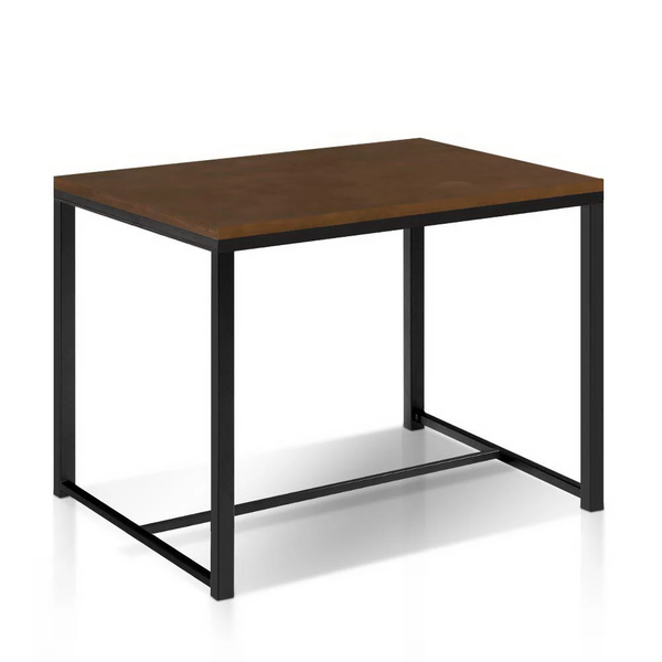 4 Seater Dark Brown Industrial Dining Table