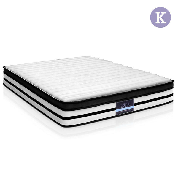 Giselle King Size 27cm Thick Spring Foam Bed Mattress