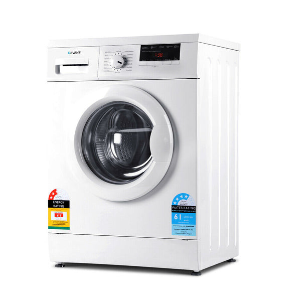 7kg Front Load Washing Machine (White)