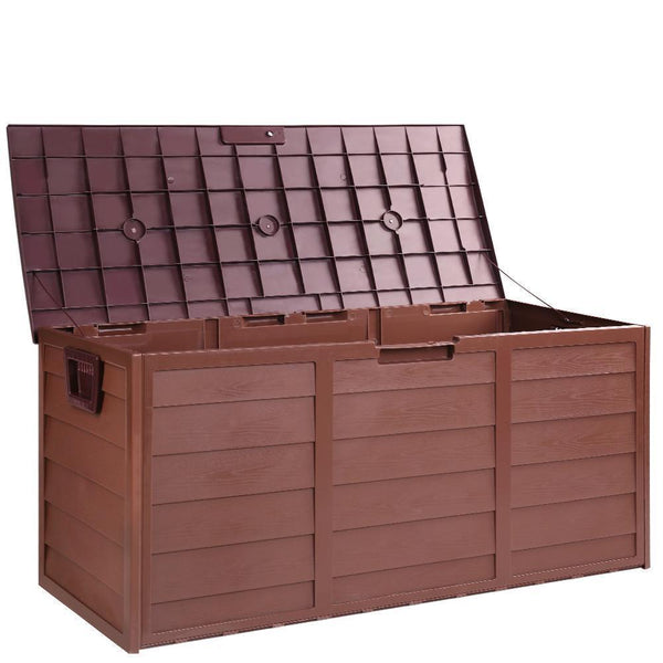 Outdoor Lockable Storage Box Brown