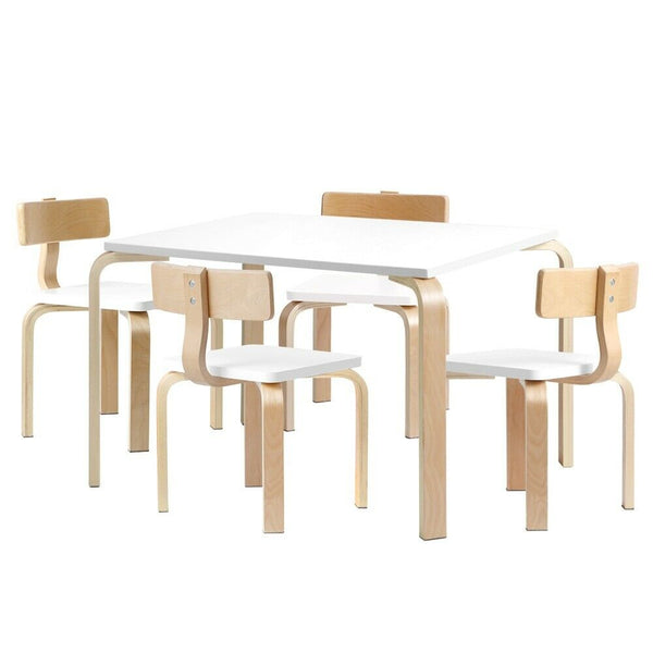 Logan 5Pcs Wooden Kids Table Chair Set