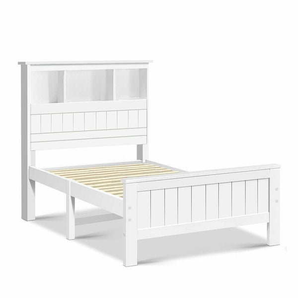 Hugo King Single White Bed Frame