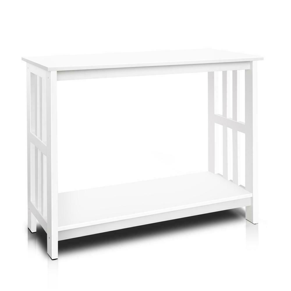 Perle White Hallway Console Entry Side Table