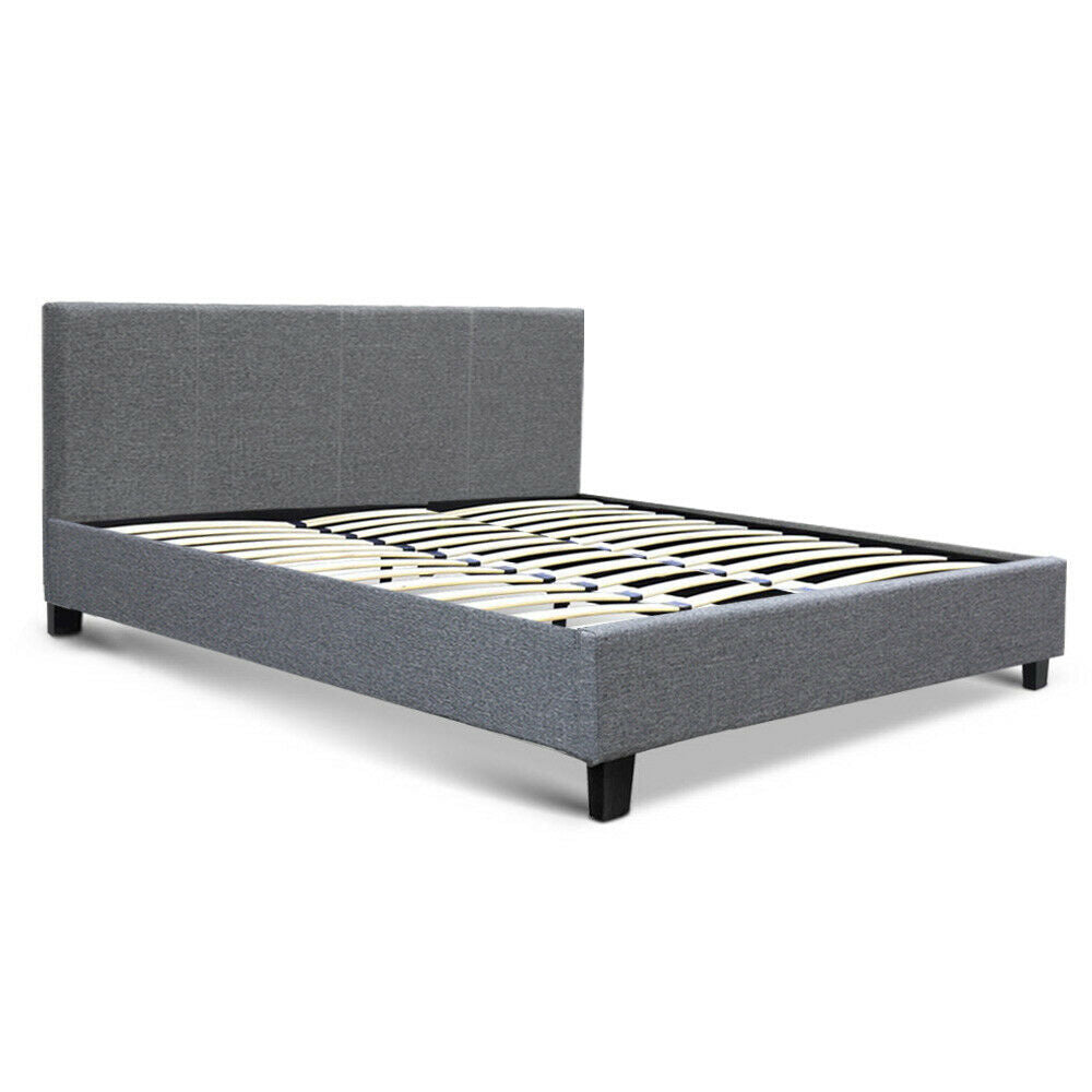 Neo King Size Grey Bed Frame