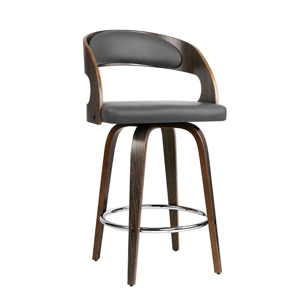 2x Vena Grey Walnut Bar Stool
