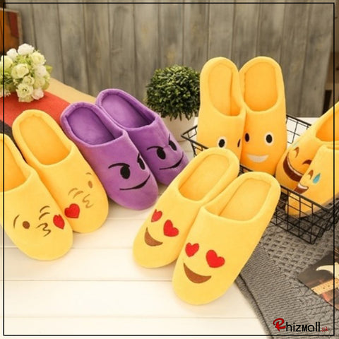 Fashion Emoji Slippers