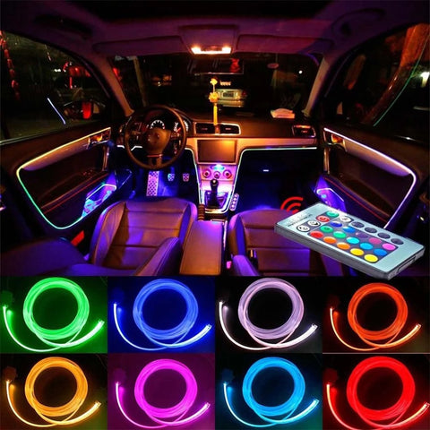 Buy Car Atmosphere Ambient Multi Color Light With Remote LEDGlow 4pc Blue LED Interior Footwell