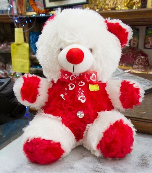 Red And White Teddy Bear - RHIZMALL.PK Online Shopping Store.