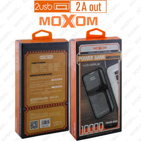 PB MOXOM MCK-021 10000mAh Power Bank - RHIZMALL.PK Online Shopping Store.