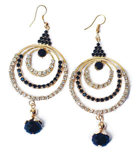 Beneta Single Crystal Gold Drop Earring - RHIZMALL.PK Online Shopping Store.
