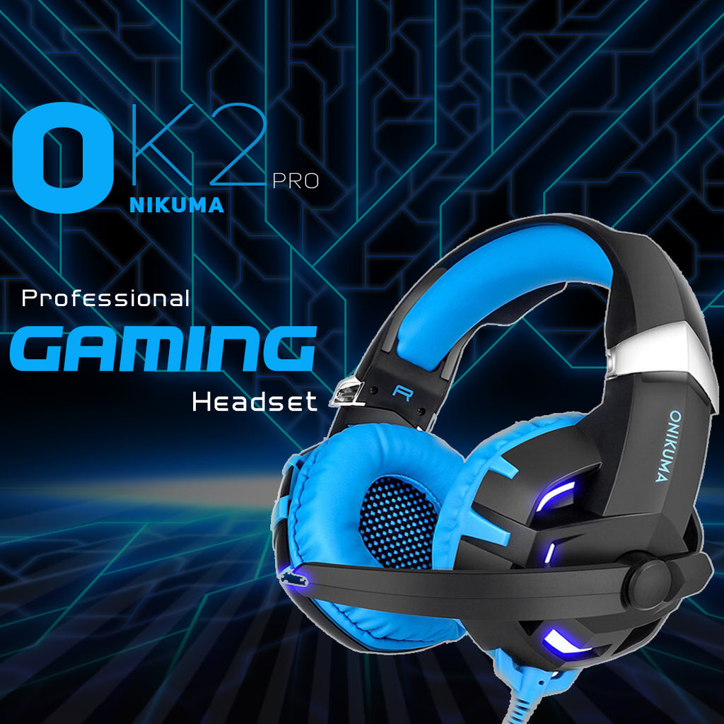 ONIKUMA K2 Over Ear Bass Stereo Surround Gaming Headphone with Microphone