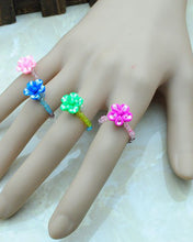 Pack of 4 - Multicolour Cute and Funky Melissa Rings