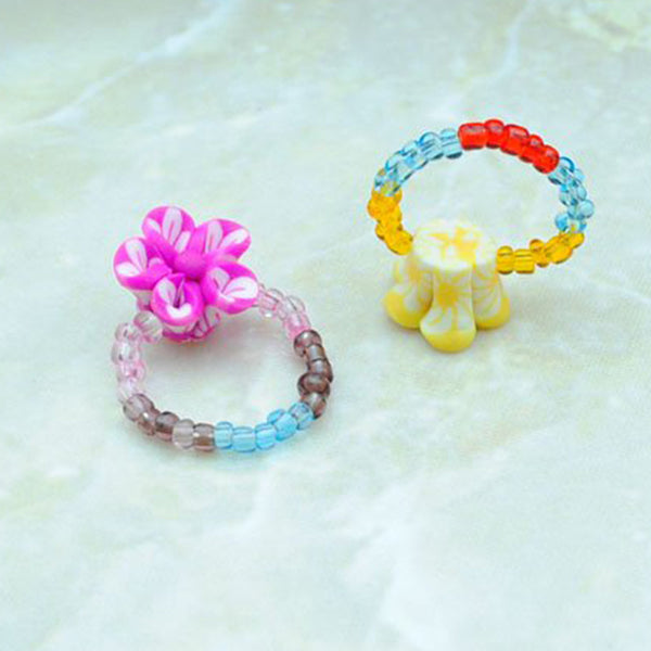Pack of 4 - Multicolour Cute and Funky Melissa Rings - RHIZMALL.PK Online Shopping Store.