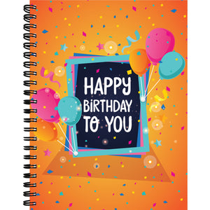Happy Birthday Notebook - RHIZMALL.PK Online Shopping Store.