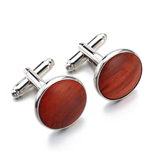 Cedar Wood Luxury Cufflink - RHIZMALL.PK Online Shopping Store.