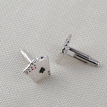 House of Cards Design Stainless Steel Cufflinks - RHIZMALL.PK Online Shopping Store.