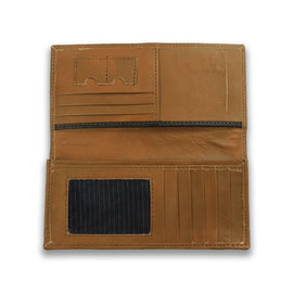 Genuine Multi-Functional Brown Leather Wallet for Women