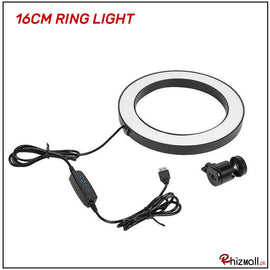 16cm New Selfie Ring Light with or without Tripod Stand for Live Stream Circle Lighting Ringlights